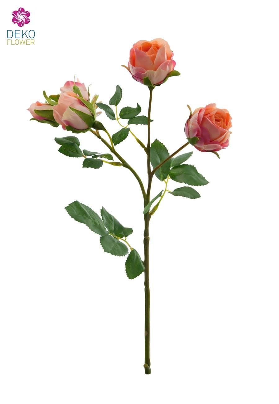 kunstblumen rosen lachsgelb 38 cm 3er pack. Black Bedroom Furniture Sets. Home Design Ideas