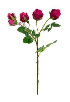 Kunstblumen Rosen pink 38 cm 3er Pack