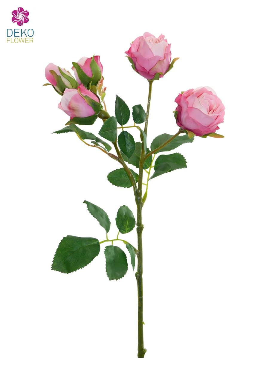 Künstliche Rosen rosa 38cm, 3er-Pack