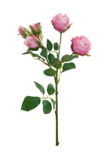 Kunstblumen Rosen rosa 38 cm 3er Pack