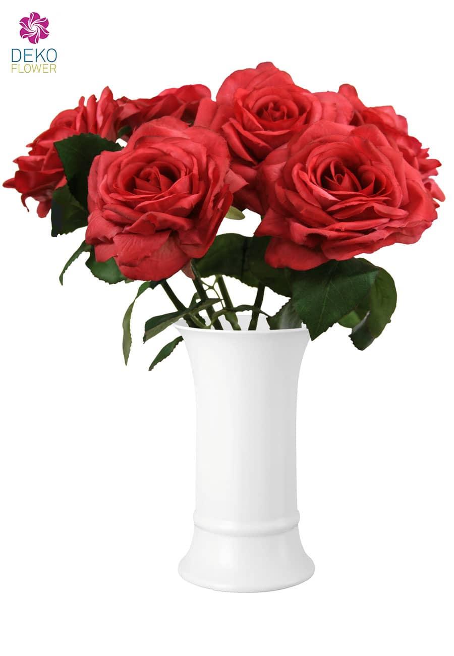Künstliche Rosen Olympia rot 6er 30cm