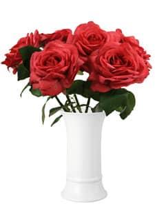 Künstliche Rosen rot 30 cm 6er Pack