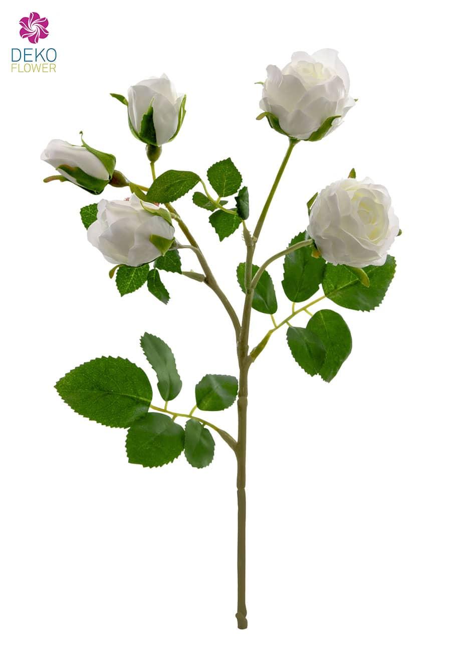 Künstliche Rosen weiß 38cm, 3er-Pack