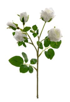 Kunstblumen Rosen weiß 38 cm 3er Pack