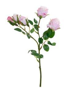 Kunstblumen Rosen weiß rosa 38 cm 3er Pack