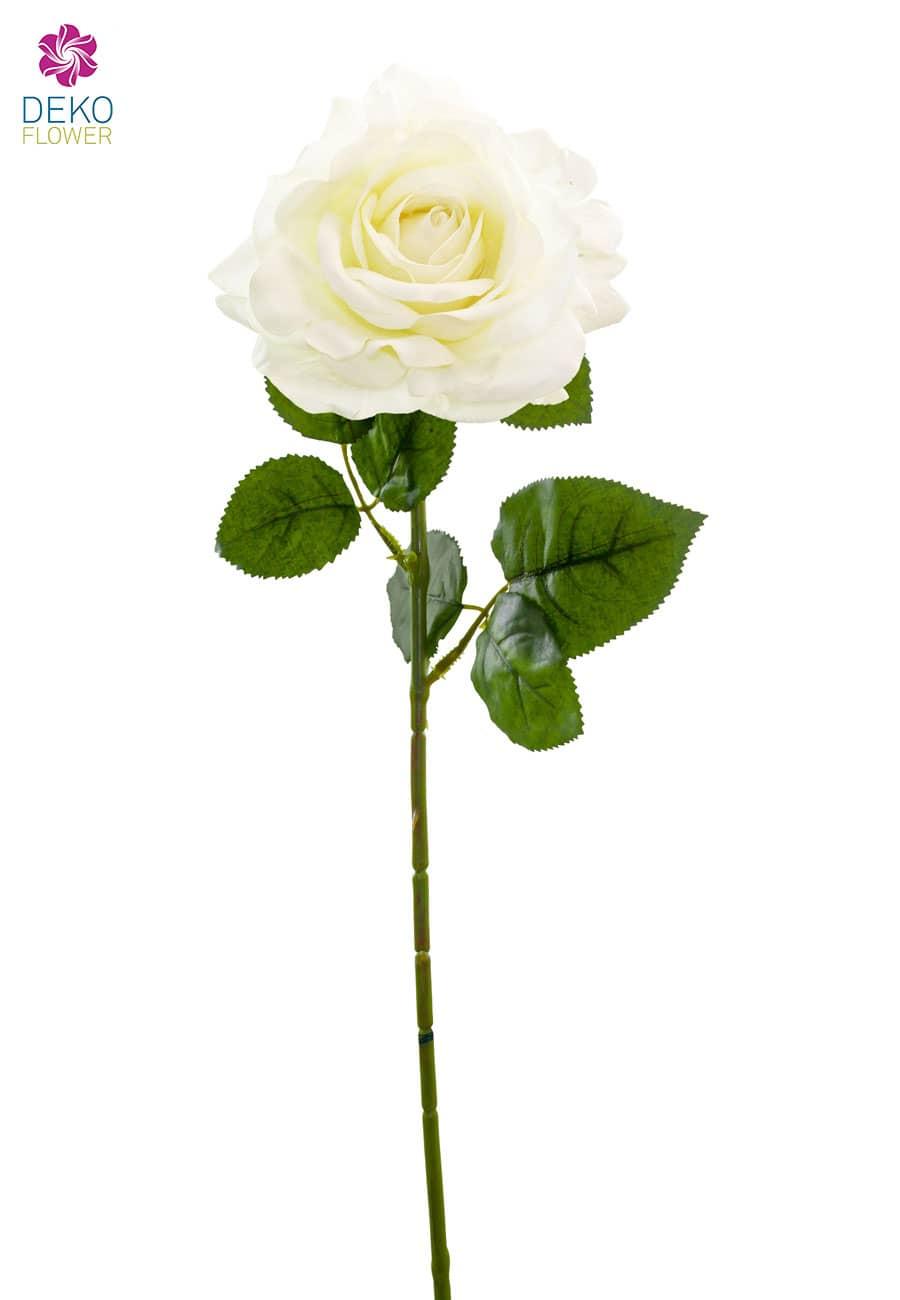 Kunstblumen Kunstrosen weiß 75 cm 6er Pack