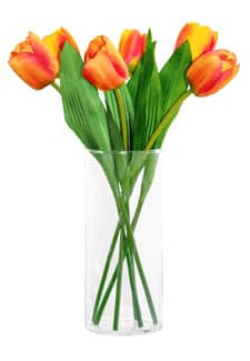 Kunstblumen Tulpen 40 cm orange 6er-Pack