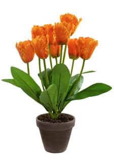 Kunstblumen Tulpen orange 40 cm