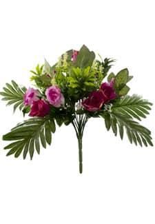 Kunstblumenstrauß magenta Rosen 38 cm