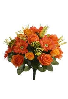 Kunstblumenstrauß orange gelb 40 cm