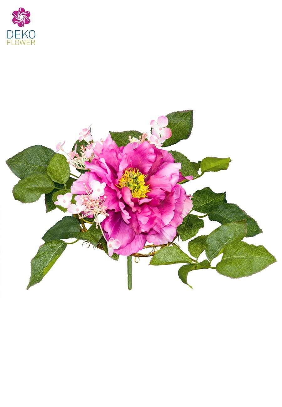 Pfingstrosenstrauß pink 23 cm