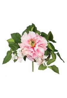 Pfingstrosenstrauß rosa 23 cm