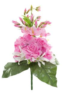 Kunstblumenstrauß pink 55 cm