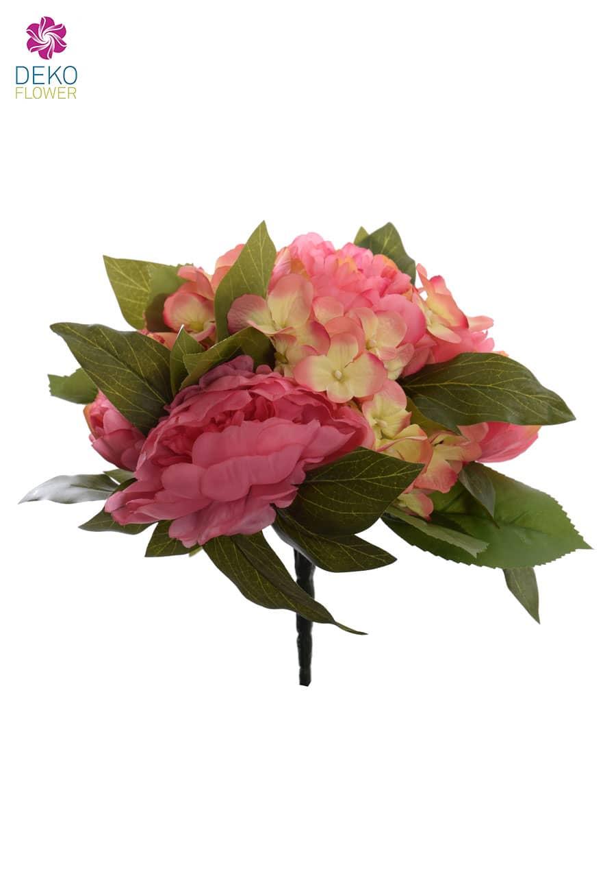 Kunstblumenstrauß pink rosa 29 cm