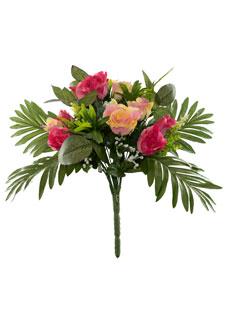 Kunstblumenstrauß rosa Rosen 38 cm