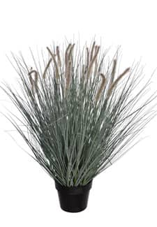 Kunstgras 102 cm grau mit Federborsten