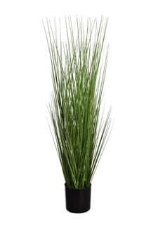 Kunstpflanze Gras grün 80 cm getopft