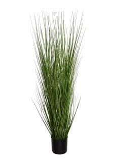 Kunstgras Deko getopft grün 100 cm
