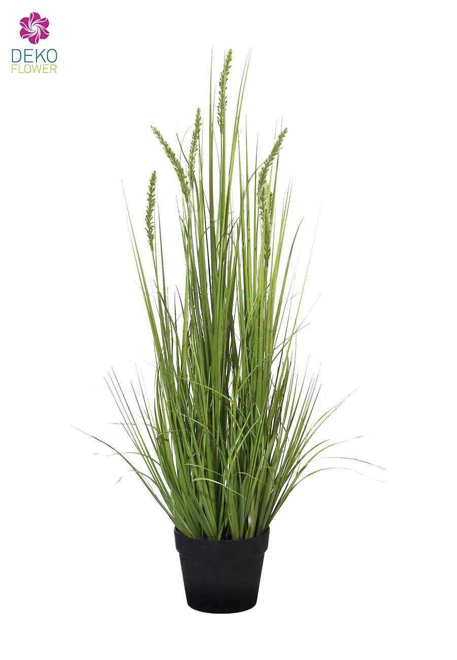 Kunstgras mit Weizenähren 114 cm grün
