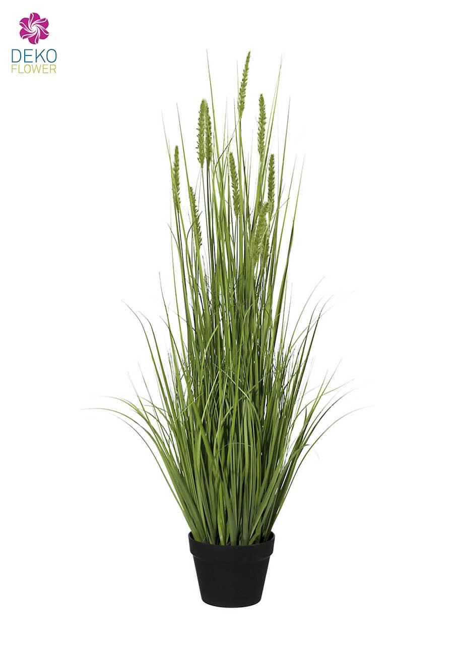 Kunstgras mit Weizenähren 137 cm grün