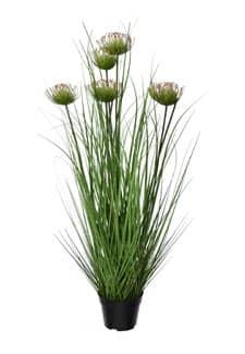 Kunstgras Protea 90 cm im Topf