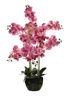 Kunstorchidee 105 cm pinkrosa mit Erdkugel