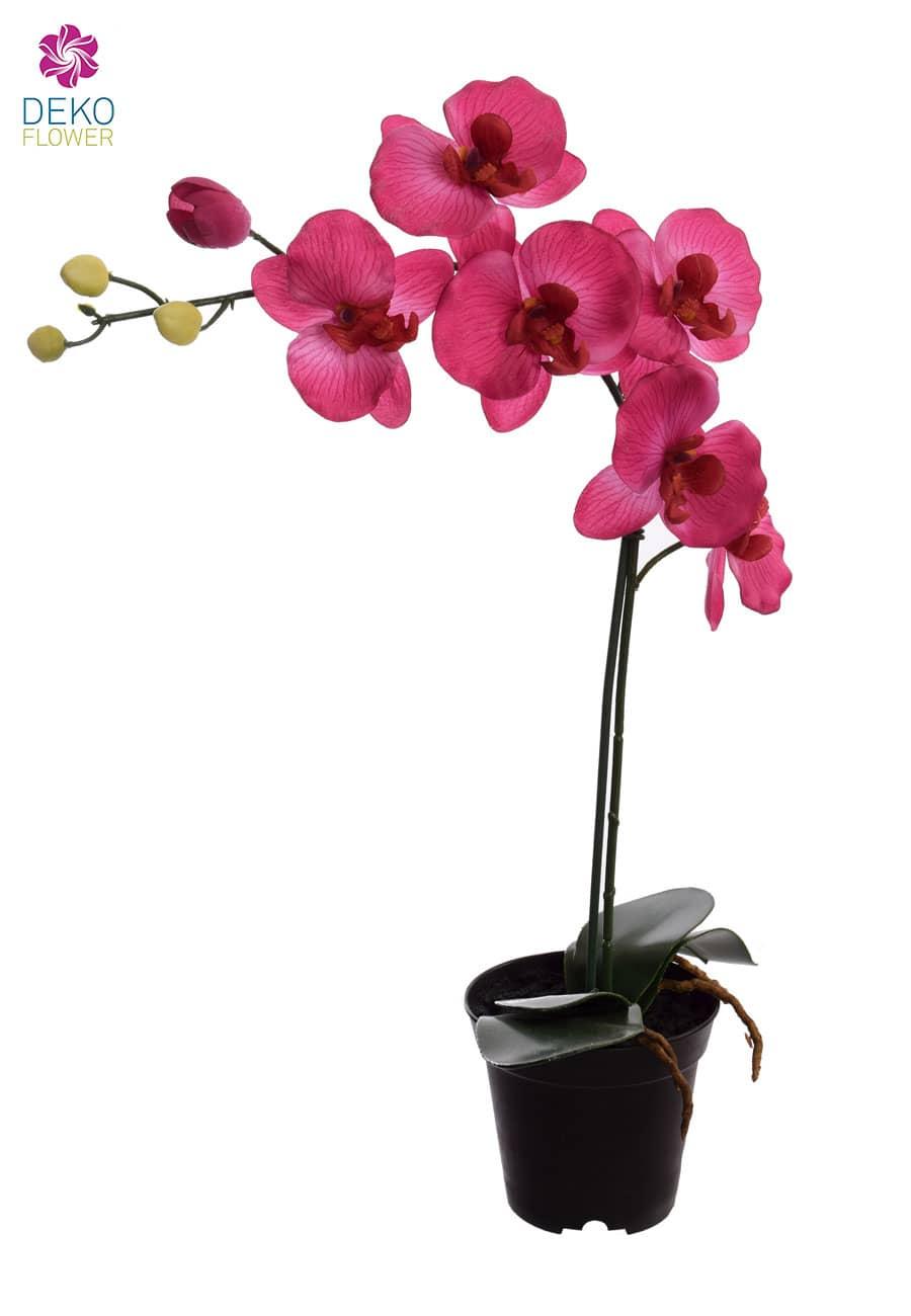 Kunstorchidee 57 cm pink