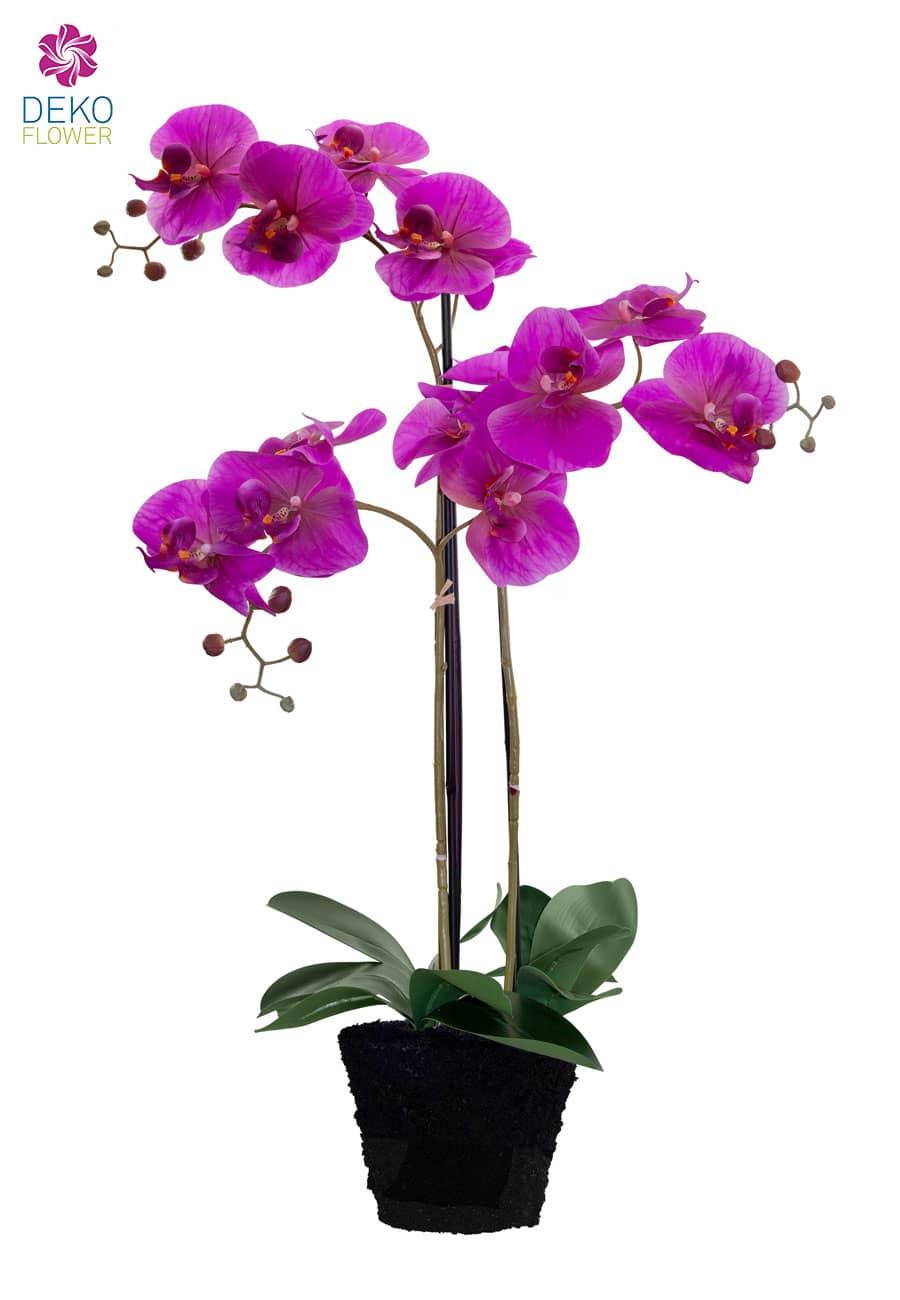 Kunstorchidee 85 cm magenta