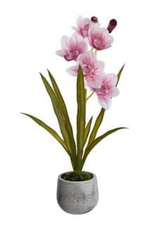 Kunstorchidee Cymbidium 55 cm rosa
