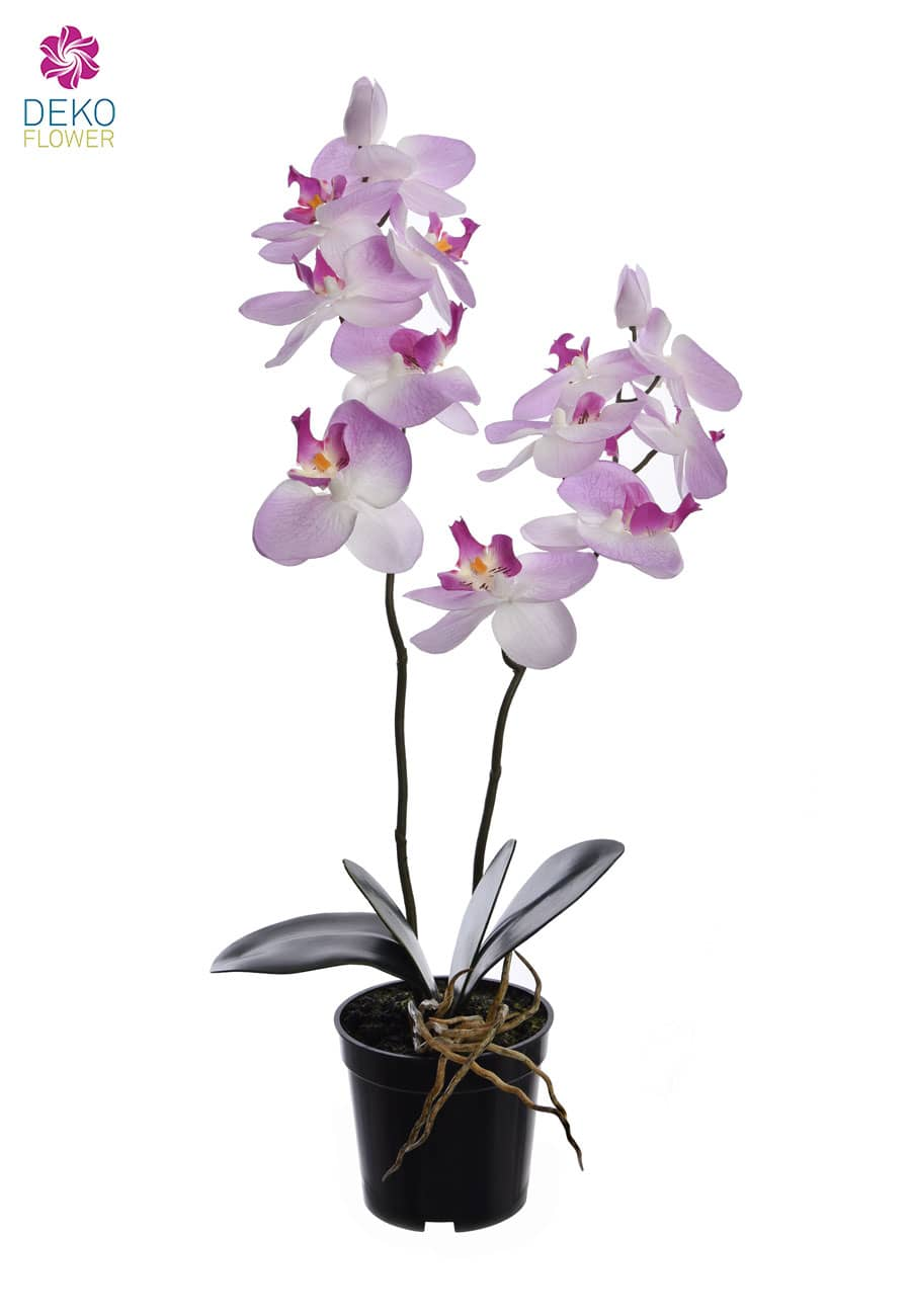 Kunstorchidee getopft 57 cm lavendel