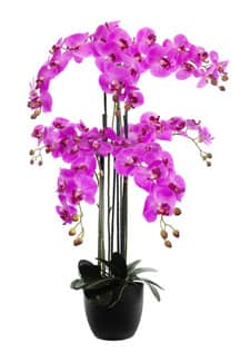 Kunstorchidee pink 107 cm im Topf