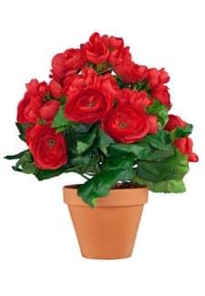 Künstliche Begonien Topfblumen rot 28 cm