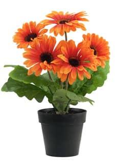 Künstliche Gerbera orange 28 cm