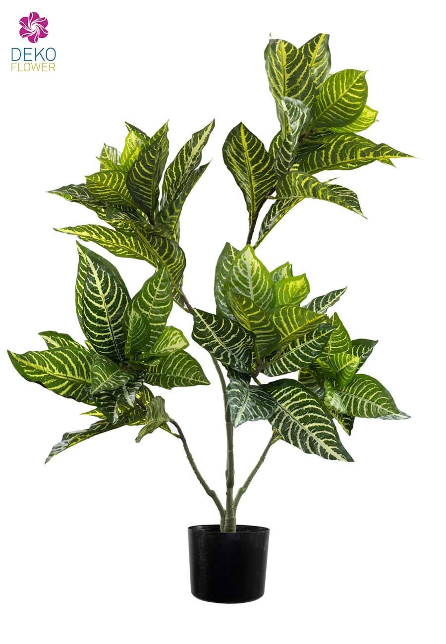 Kunstpflanze Zebra-Blatt 90 cm