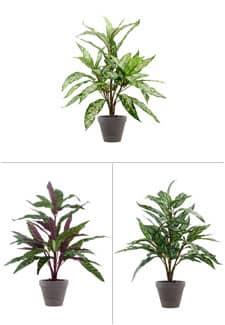 Kunstpflanzen 3er-Set 60cm