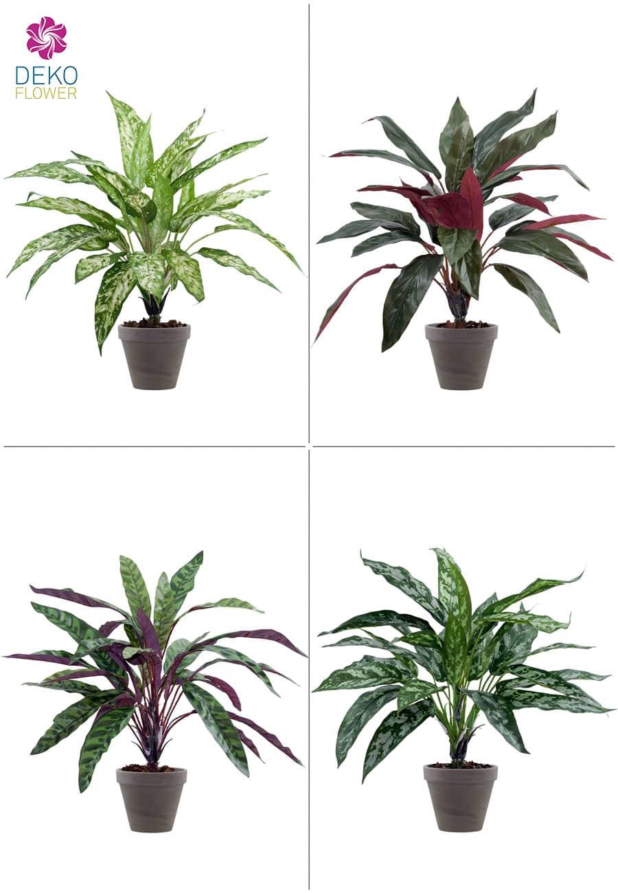 4er-Set Kunstpflanzen je 47 cm