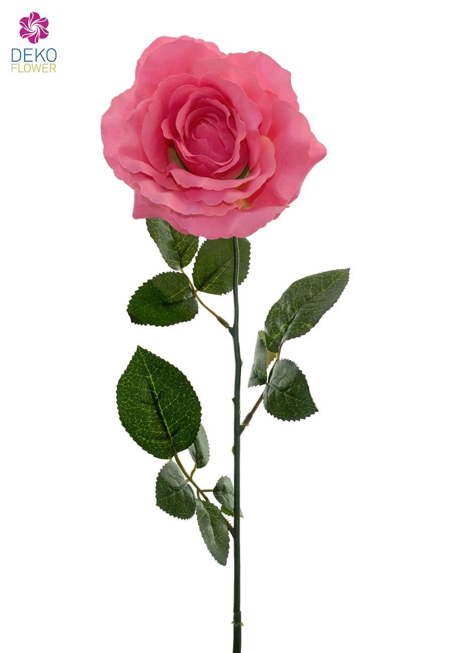 Künstliche Rosen rosa 70 cm 6er Pack
