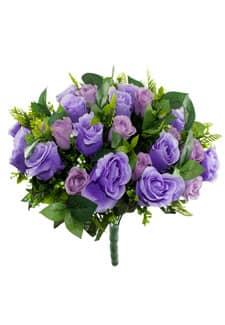 Kunststrauß aus Rosen 50 cm lavendel