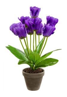 Kunsttulpen im Topf violett 40 cm