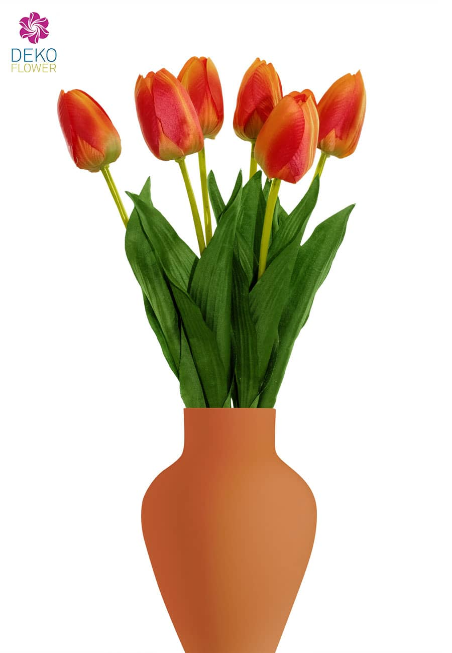 Kunsttulpen Bündel orange 55 cm, 6er-Pack