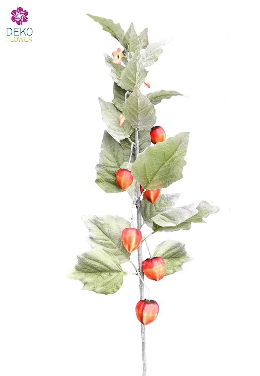 Künstlicher Lampion Blütenzweig 80 cm 3er Set
