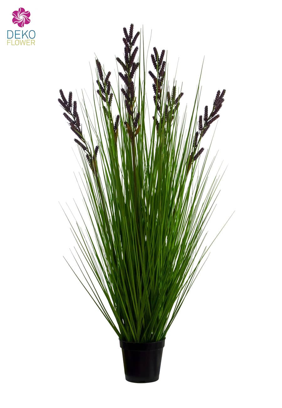 Lavendel Blüten Kunstgras 96 cm