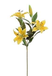 Künstliche Lilien gelb 67 cm 3er-Pack