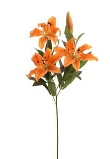 Künstliche Lilien orange 67 cm 3er-Pack