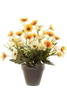 Margeritenbusch Kunstpflanze orange 30 cm