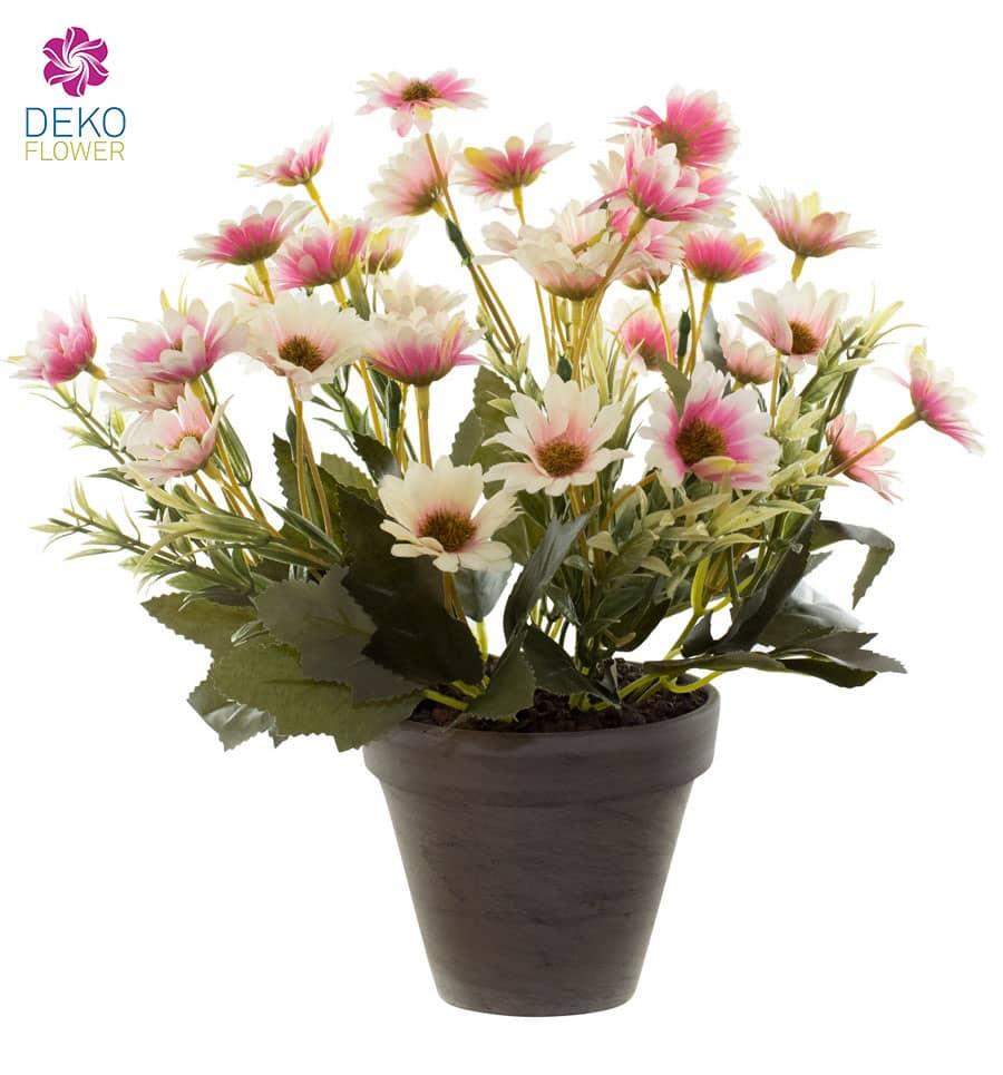 Margeritenbusch Kunstpflanze rosa 30 cm