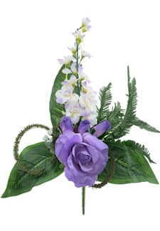 Künstlicher Rosenstrauß Delphinium lila 40cm 4er-Pack
