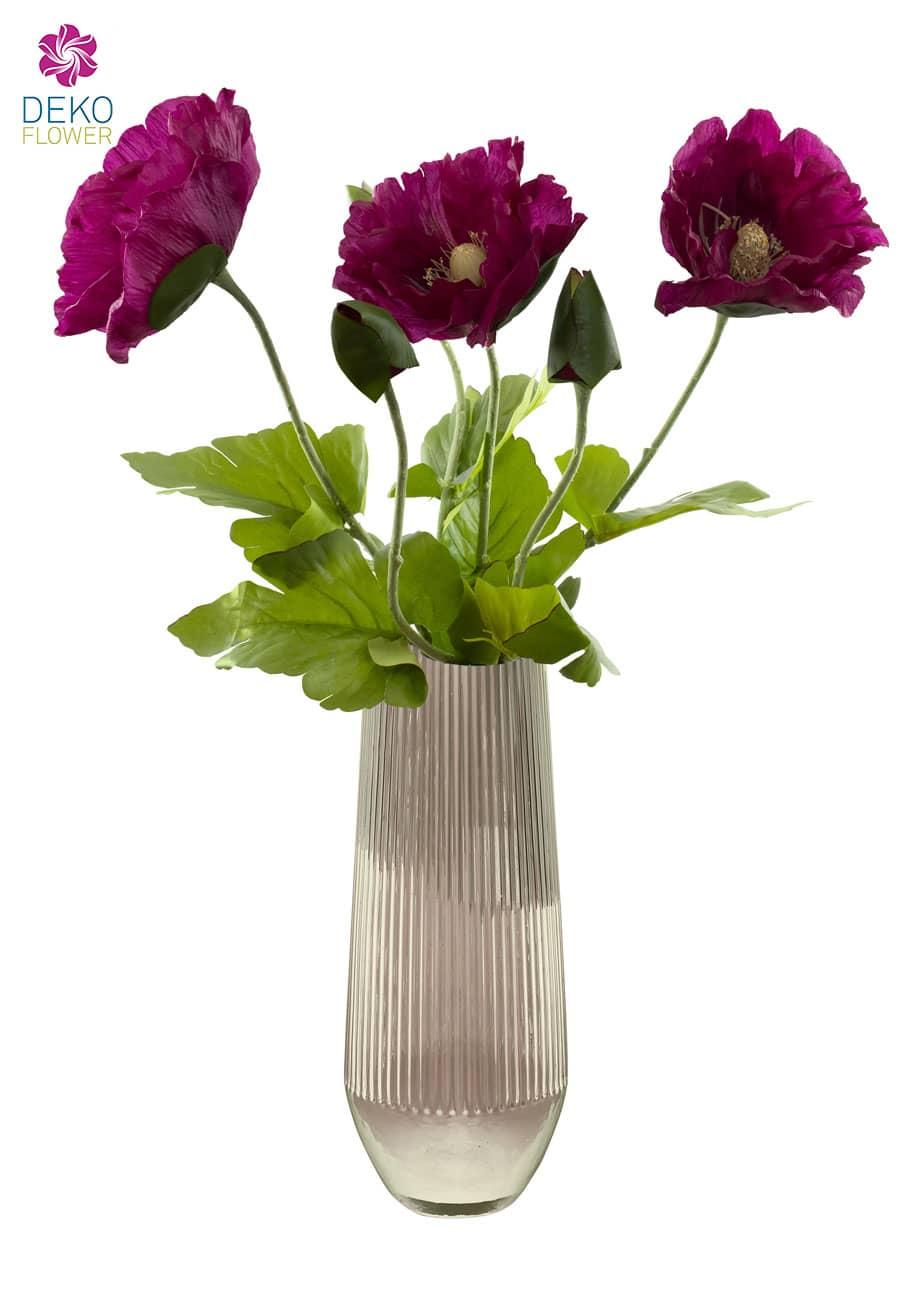 Mohnblumen künstlich 78 cm magenta - 2. Wahl