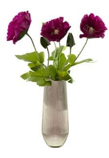 Mohnblumen künstlich 78 cm magenta