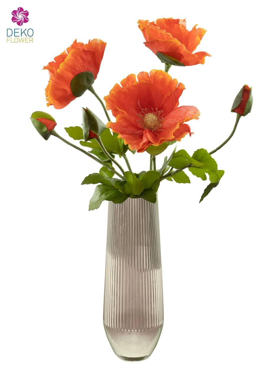 Mohnblumen künstlich orange 78 cm - 2. Wahl